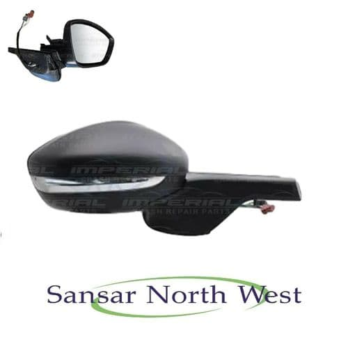 Citroen C3 Drivers Door Mirror Electric Heated Primed Manual Fold O/S RIGHT 16>